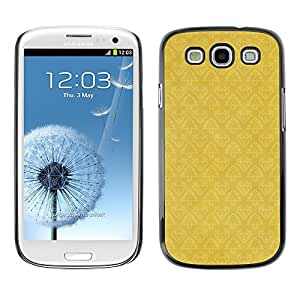 TopCaseStore / la caja del caucho duro de la cubierta de protección de la piel - Wallpaper Pattern Yellow Vintage - Samsung Galaxy S3 I9300