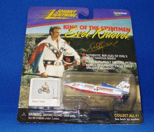 Johnny Lighting King of the Stuntmen Evel Knievel Snake River Canyon X-2 Sky Cycle (#2 in Series of 4) by KING (Cycle Canyon)