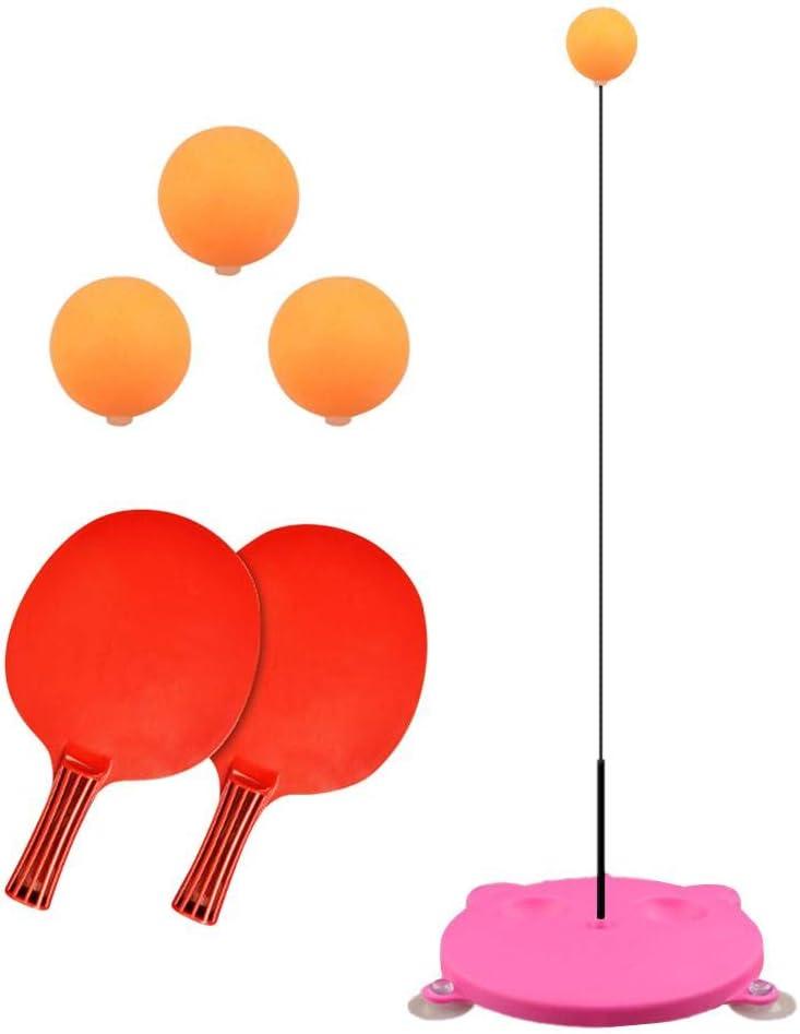 WXGY - Entrenador de Tenis de Mesa de Mango Suave, portátil, 2 Raquetas y 3 Pelotas de Ejercicio para autoentrenamiento, Ocio, descompresión, para niños en Interiores y Exteriores