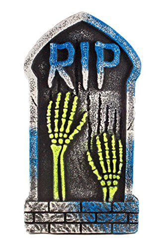R.I.P. Skeleton Hands Tombstone Black Light Decorative Halloween Yard Sign (Halloween Headstone)