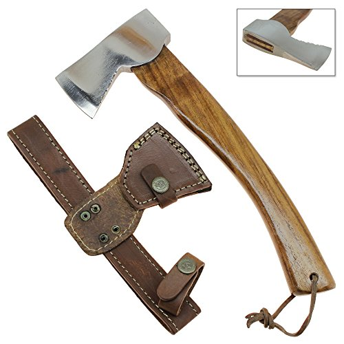Wildlife Backpacker Polished Stainless Steel Travel Hatchet Hiking & Camping Axe Stainless Steel Axe