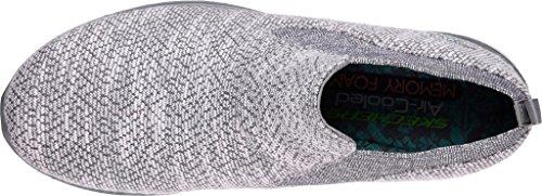 Skechers 23327 Femme Baskets white bbk Gray Microburst 5ranOFq1r