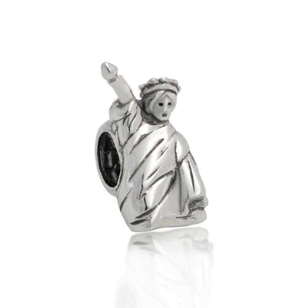 Statue of Liberty USA Travel Bead Charm .925 Sterling Silver