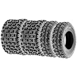 SunF Knobby Sport ATV Tires 20x6-10 & 18x10-8 4/6 PR A031 (Complete set of 4)