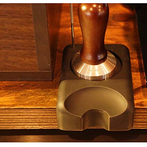 Espresso Tamper Flat Stainless Steel 304 with Non-Toxic Silicon Tamping Mat by Nuvo Café (Image #10)