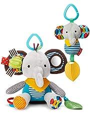 Skip Hop Bandana Buddies Baby Activity and Teething Toy Set with Multi-Sensory Rattle and Textures, Elephant