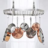 Contemporary Stainless Steel Octagonal Hanging Pot Rack