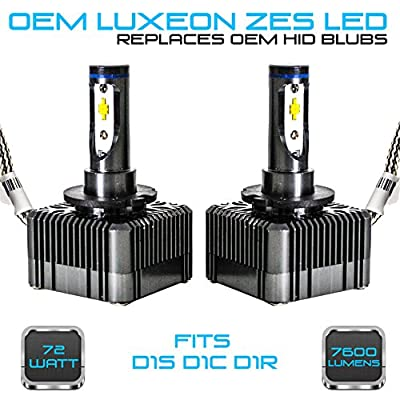 Stark 72W 7600LM Headlight LED Canbus Conversion Kit 6000K White Replace OEM HID Xenon Bulbs - D1S D1R D1C