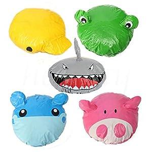 mk. park - 1pcs Cartoon Animal Shower Cap Hat Bath Waterproof Kids Travel Hair Protector (Shark)