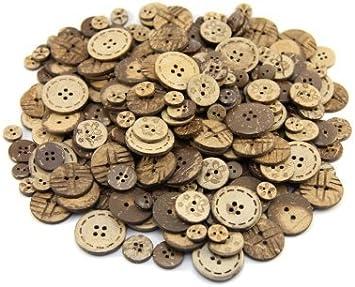 HK20 - Botones (madera de coco, con 2 o 4 botones, diámetros: 10 ...