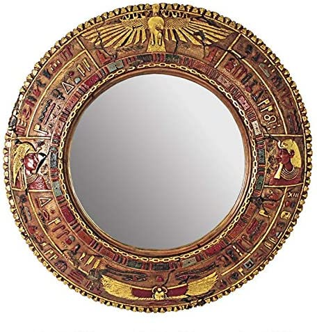 Design Toscano Temple of Luxor Egyptian Grand – Scale Wall Sculpture Mirror