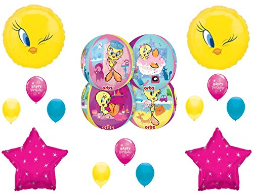PAMPERED TWEETY BIRD Spa Day Shopping Birthday Party Balloons Decoration Orbz by Party Supply