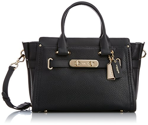 Womens Pebbled Leather Coach Swagger