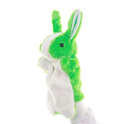 "Baidercors 12"" Cute Easter Bunny Plush Hand Puppets: Toys & Games"