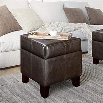 Amazon Com Modway Treasure Upholstered Vinyl Ottoman In