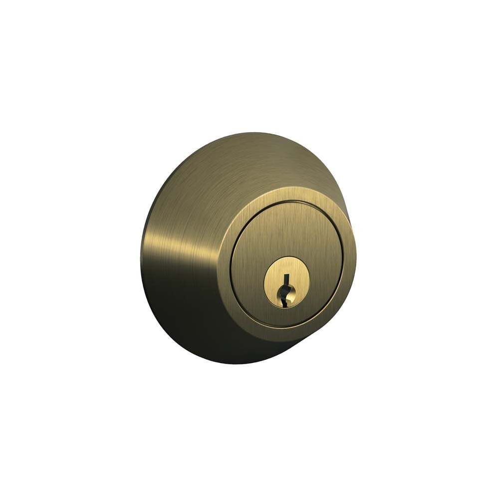 Dexter by Schlage JD60V609 Single-Cylinder Deadbolt, Antique Brass