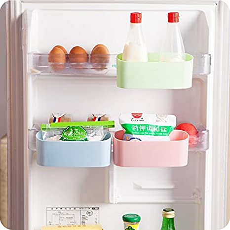 Bon Home Cube 1 Pc Creative Kitchen Storage Box Organizer Can Hanging Side Door Refrigerator  Refrigerator Crisper