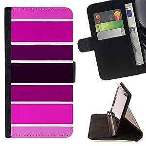 Momo Phone Case / Flip Funda de Cuero Case Cover - Muestra Rosa Púrpura tonos fucsia - Samsung Galaxy Note 5 5th N9200