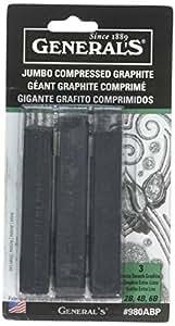 General's 980ABP Jumbo Graphite Sticks (3 Pack)