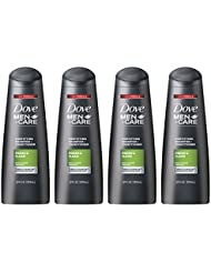 Dove Men+Care 2 in 1 Shampoo and Conditioner, Fresh and Clean 12 oz, 4 Count