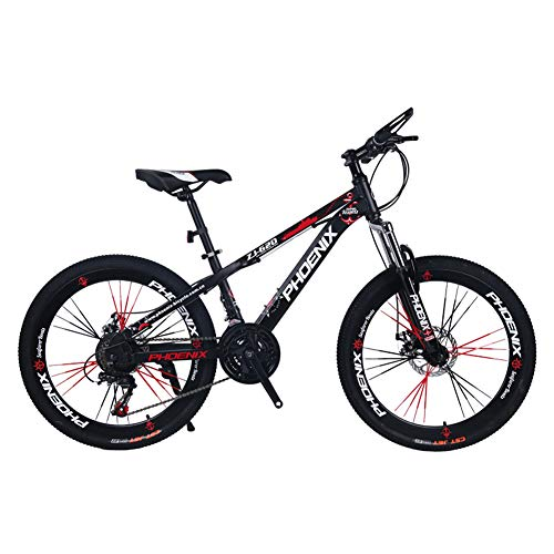 SunHai Children's Bicycle 24 Inch Variable Speed Mountain Bike 12-17 Years Old Boys and Girls Student Cycling (Color : Black)
