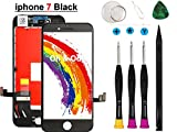 Oli & Ode Compatible with iPhone 7 Screen Replacement Black (4.7 Inch), LCD Digitizer Touch Screen Assembly Set, Repair Tools Set Included (A1660/A1778/A1779)