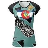 Colorado Wrestling Womens 3D Printed Short Sleeve Fashion Raglan T-Shirt Tops