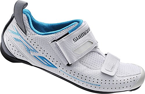 Shimano Kvinder Cykel Fodtøj Triathlon Sko Sh-tr9 Gr. 42 Spd-sl Klettverschl, Eshtr9nc420ww00 Flerfarvede