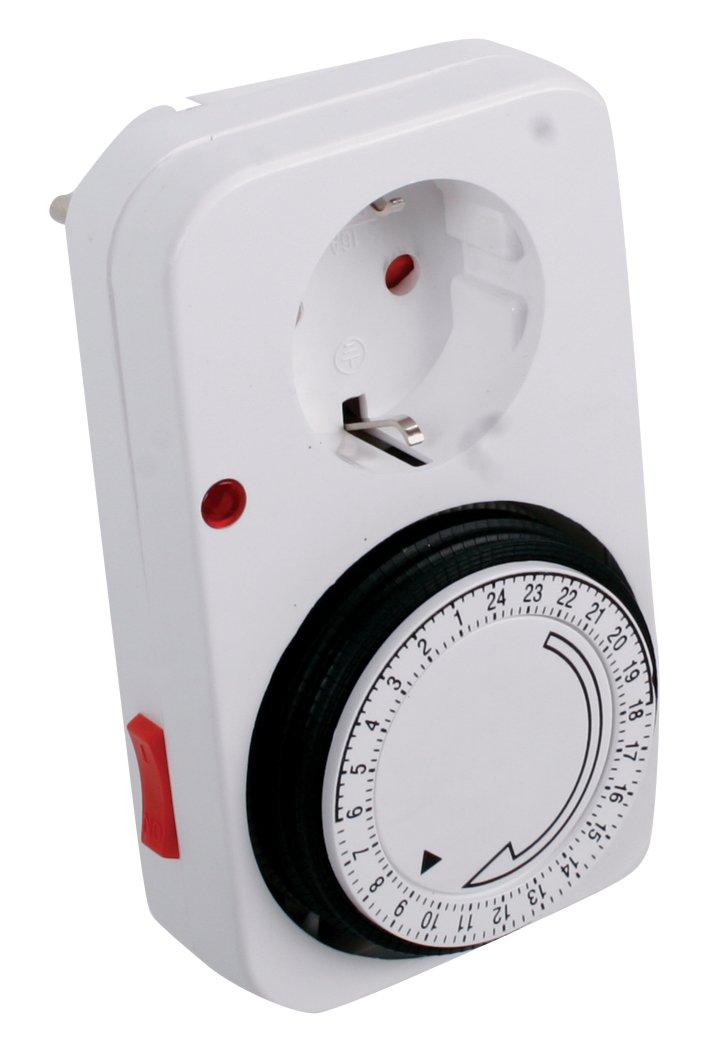 Temporizador mec/ánico 24h con enchufe Franelec color blanco