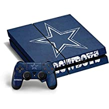 NFL Dallas Cowboys PS4 Horizontal Bundle Skin - Dallas Cowboys Distressed Vinyl Decal Skin For Your PS4 Horizontal Bundle