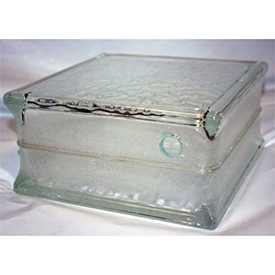 Pre-drilled Glass Block 8x8x4 IceScapes Pattern - Case of 8 Blocks