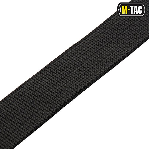 Mens Belt - Outdoor Travel Tactical Military style - Nylon web - Plastic bucke (Black, Large/X-Large) by М-Tac (Image #4)