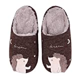 Cute Animal House Slippers Hedgehog Dog Family Indoor Slippers Waterproof Sole Fuzzy Bedroom Slippers for Kids 16C-L