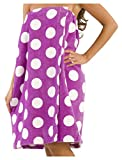byLora Bath wrap Towels for Women Cover Up for Ladies and Petite Girl- L Purple - SM