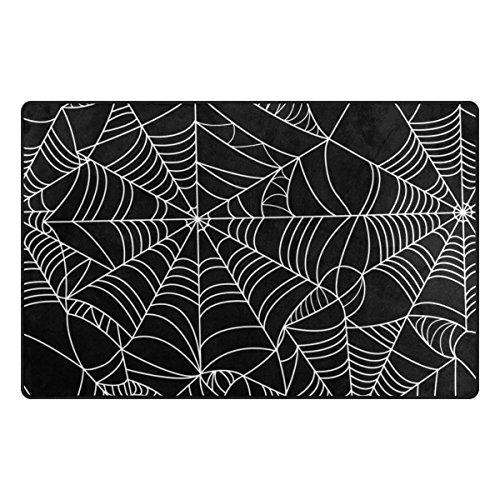 My Daily Spiderweb Black and White Area Rug 20
