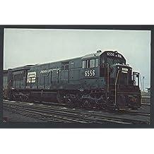 Penn Central 6556 General Electric U-33C Train Railroad Engine Postcard