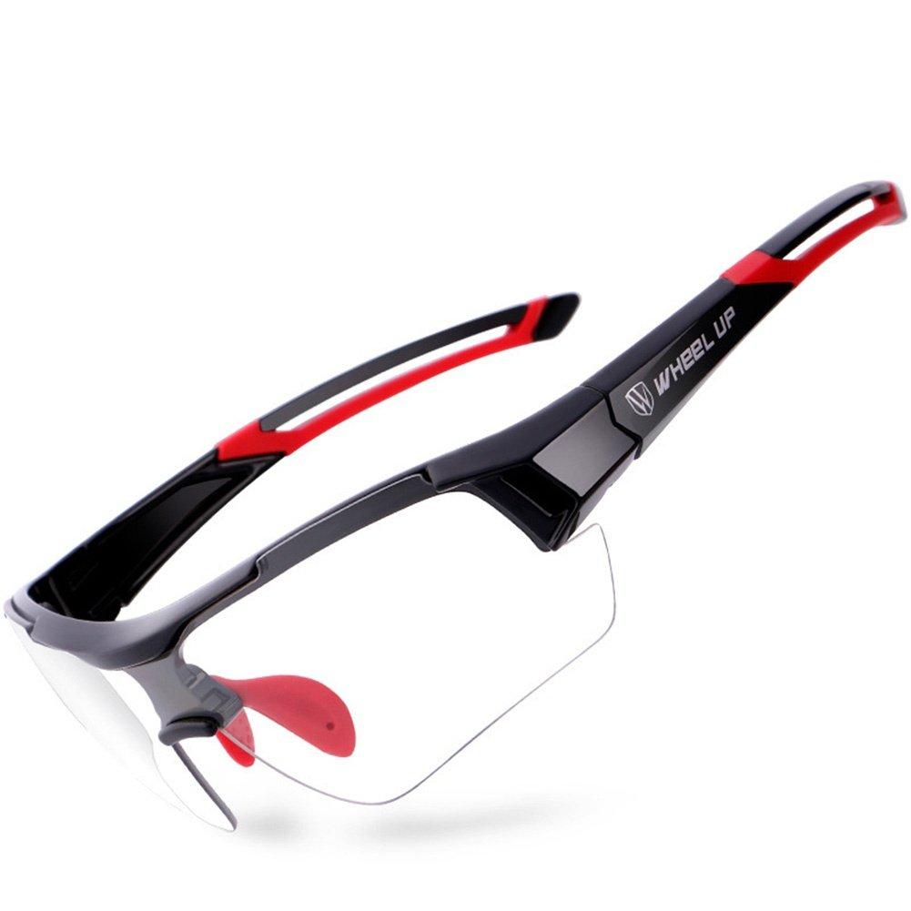 CDSS Mountainbike Verfärbung Radsport-Brillen Herren Damen Polarisiertes Licht Fahrrad Im Freien Sport-Sonnenbrillen UV-Schutz HD PC Augenschutz Reiten Fahren Gläser