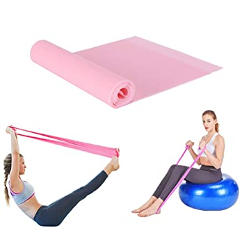 QXHM Resistance Band and Yoga Bands, Professional Latex Elastic Bands for Upper & Lower Body & Core Exercise, Physical Therapy, Lower Pilates, at-Home ...