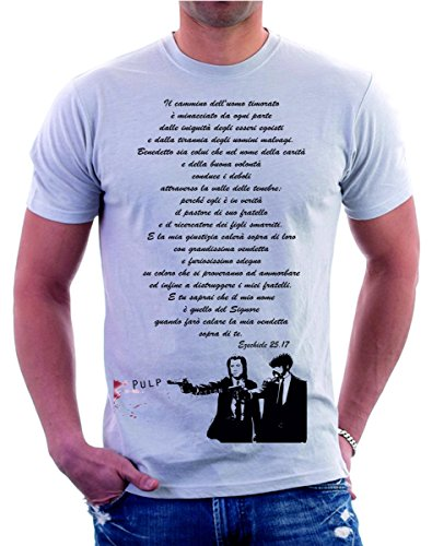 shirt Frase By T Grigio Tshirteria Maglietta 17 Completa Ezechiele 25 v6dqxqTwU