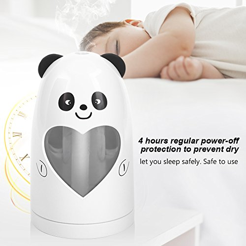 Mist Humidifier Ultrasonic USB Portable Air Humidifiers Purifier for Cars Office Desk Home Babies kids Bedroom 180ML Mini Desktop Cup Humidifier(Panda) by YosooXX (Image #4)