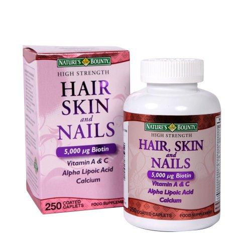 Природы Bounty волос, кожи и ногтей Всего 250 Tabs