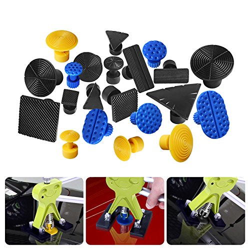 FLY5D 45Pcs DIY Car Paintless Dent Glue Puller Removal Tool Kits for Car Door Ding Repair Power Hand Tools by Fly5D (Image #4)