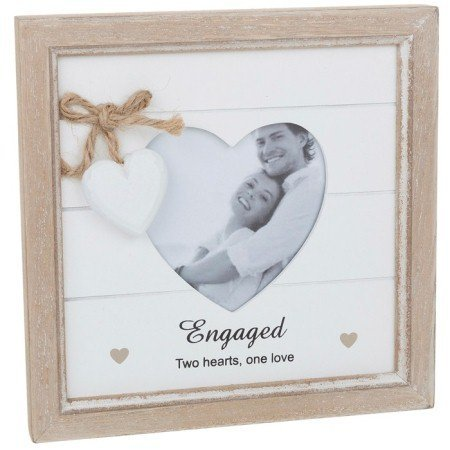Provence Message Heart Frame Engaged (Shabby Chic) by Shudehill (Frame Giftware)