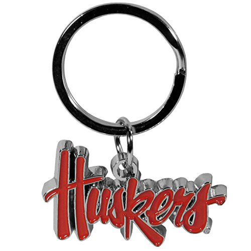 Nebraska Cornhuskers Chrome Auto - NCAA Nebraska Cornhuskers Chrome Key Chain