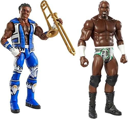 Kids Indoor Fun Playtime WWE Elite Figure, Xavier Woods & Basic Apollo Crews Figure Bundle of 2 by Toy