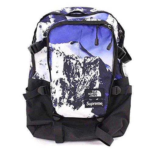 (シュプリーム) SUPREME ×ノースフェイス/THE NORTH FACE 【17AW】【The North Mountain Expedition Backpack】マウンテン総柄バックパック(ブルー) 中古 B07DXLP2CT