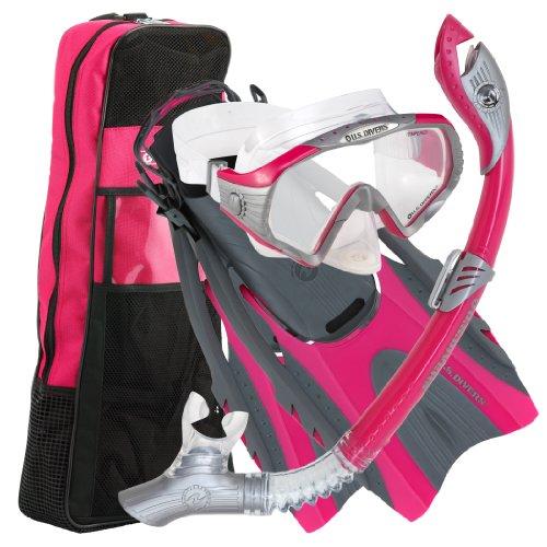 U.S. Divers Adult Starbuck II Purge LX Mask/Paradise Dry LX Snorkel/Hingeflex... ()