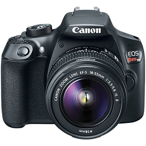 Canon EOS Rebel T6 Digital SLR Premium Kit, EF-S 18-55mm and EF 75-300mm Zoom Lenses, Backpack, 16GB Memory Card, Wifi by Canon