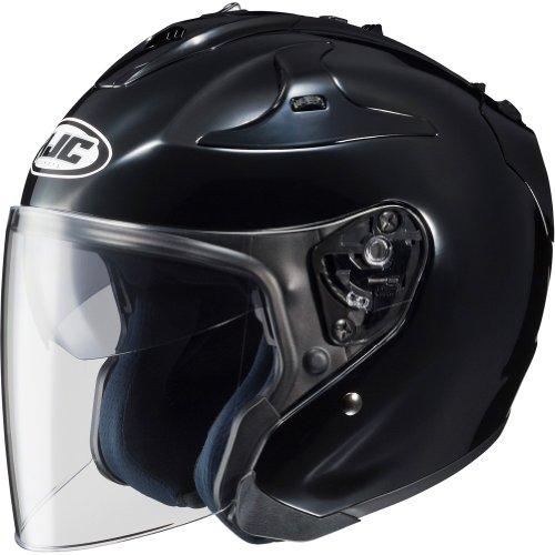 HJC Solid FG-JET 3/4 Open Face Motorcycle Helmet - Black / X-Large