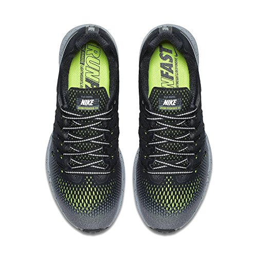 Nike Womens Air Zoom Pegasus 33 Nero / Grigio Scuro / Stealth / Argento Metallizzato
